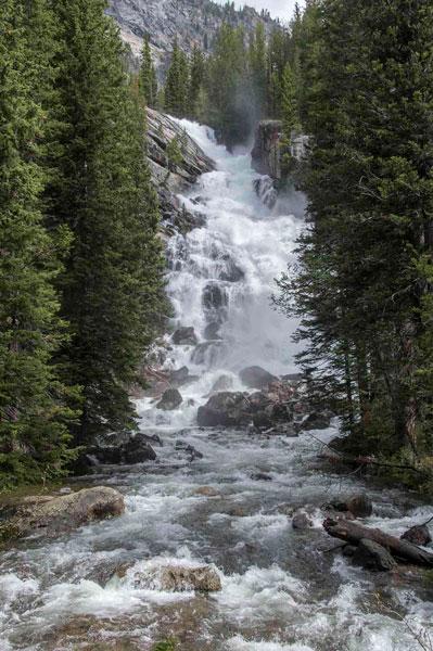 Hidden Falls, Jenny Lake Trail up Mt. Teewinot